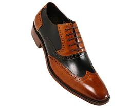 Asher Green Mens Two Tone Genuine Calf Leather Wingtip Spect