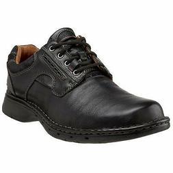 Clarks Mens Un. Ravel Lace Up Casual Oxfords, Black, Size 10