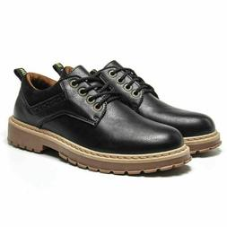 Mens Vintage Martin Shoes Casual Military Leather Work Boots