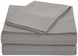 AmazonBasics Microfiber Sheet Set - Twin, Dark Grey