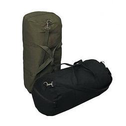 "Military Heavy Duty Canvas Shoulder Duffle Bag 24"" x 12"" Rot"