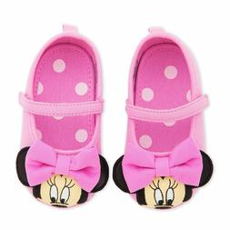 Disney Store Minnie Mouse 3D Pink Baby Costume Dress Shoes E