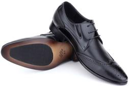 Mio Marino Mens Shoes, Oxford Dress Shoes, Genuine Leather i