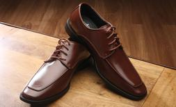 Monoco Brown Lace-Up Dress Shoes