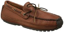 Minnetonka Men's Moosehide Weekend Moccasin,Carmel Moose,14