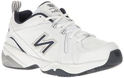 New Balance Men's MX608v4 Training Shoe, White/Navy, 10.5 4E