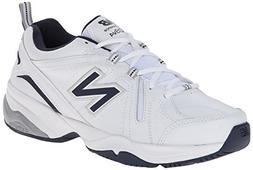 New Balance Men's MX608v4 Training Shoe, White/Navy, 10.5 4E