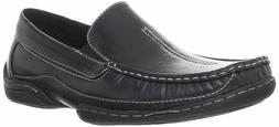 Stacy Adams MYLO Mens Black 24747-001 Leather Moc Toe Slip O