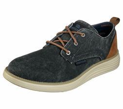 Navy Skechers Wide Fit shoes Men Memory Foam Casual Vintage