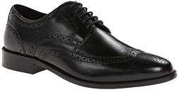 Nunn Bush Men's Nelson Wing Tip Oxford,Black 7.5 M