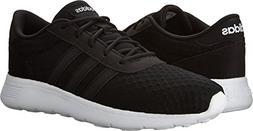 adidas NEO Women's Lite Racer W Sneaker, Black/White, 8 M US