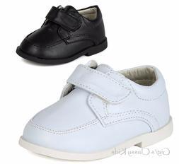 New Baby Toddler Boys White Black Dress Shoes Christening Ba