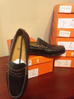 New Martin Dingman Bill Penny Loafer Dress Shoes Black Walnu