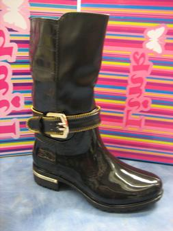 New  Black Boots for Girls/Dress Boots/Rubber Sole/Sizes 9 T