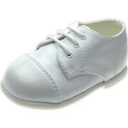 NEW Boys All White Tuxedo Dress Shoes Baptism Christening Co