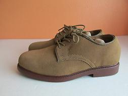 New Bass Boys Size 5 Youth Taupe Brockton-Y  Nubuck Leather