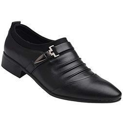 Feitengtd New British Men's Leather Shoes Fashion Man Pointe