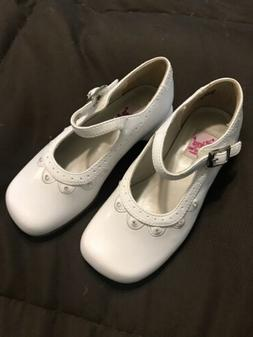 New Chicas by Josmo Toddler Girl's White Dress Shoes MaryJ