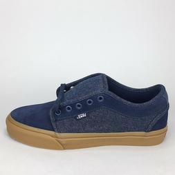 New Vans Chukka Low Pro Skate Shoe 'Denim' Dress Blues Gum S