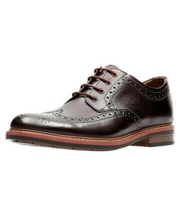 NEW CLARKS BOSTONIAN ARMON WING BURGUNDY LEATHER LACE UP WIN