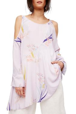 NEW FREE PEOPLE Clear Skies Solid Tunic Dress cold shoulders