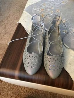 New Dress Shoes Justice Flat Shoes For Girls Size 2 Color Gr