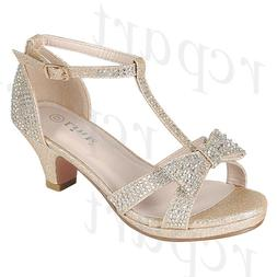 New girl buckle closure dress shoes open toe special occasio