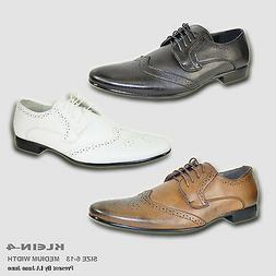 BRAVO New Men Dress Shoes KLEIN-4 Oxford Fashion Wing Tip wi