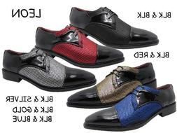 New Men Fashion Dress Shoes Formal Oxford Casual Lace Up  Si