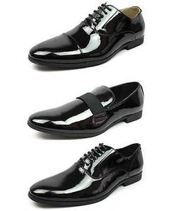 New Men's Black Patent Leather Tuxedo Dress Shoes Formal Shi