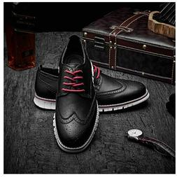 LAOKS MEN'S BROGUES OXFORD WINGTIP LEATHER BUSINESS CASUAL