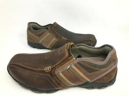 NEW! Skechers Men's DIAMETER ZINROY Slip On Dress Shoe Brown