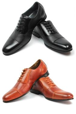 New Men's Ferro Aldo Dress Shoes Cap Toe Lace Up Oxfords Lea