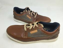 NEW! Skechers Men's Lace Up Dress Shoes Brown #64921 4O4 az
