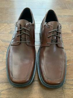 New Mens Clarks Bostonian Brown Leather Oxford Lace Up Dress