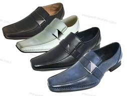 New Mens Dress Shoes Casual Loafers Elastic Slip On Fashion