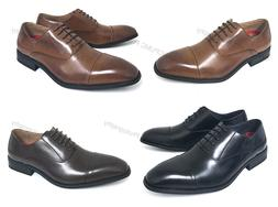 New Mens Dress Shoes Oxfords Cap-Toe Lace Up Leather Lined W