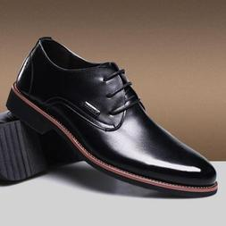 New Mens Lace Up fashion Pointed Toe Hiking Business Formal