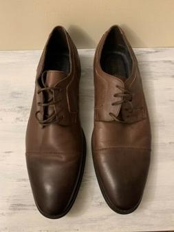 New Men's Size 11 Asher Green Solid Brown Cap Toe Oxford L