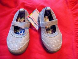 New Size 5 Silver Bling Mary Janes Infant/Toddler Shoes Perf