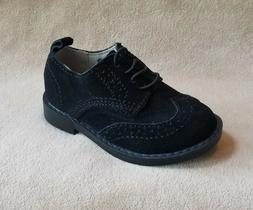 New Toddler Boys Shoe Size 7  BABY GAP Black Suede Wingtip O