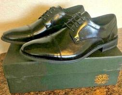New Asher Green WILCOX Mens Black Leather Oxford Dress Shoes