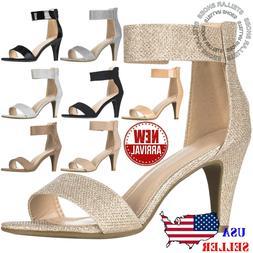 NEW Women Ankle Strap Open Toe Comfortable High Heels Dress