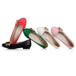 New Women Ballet Flats Round Toe Comfortable Flat Dress Shoe
