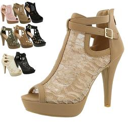 New Women Gladiator Strappy Chunky Platform High Heel Sandal