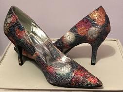 NEW Women's Dress Shoes Size 9 1/2 Party Heels Glitter Multi
