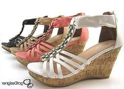 NEW Women's Fashion Dress Shoes Wedges Platforms Dress High