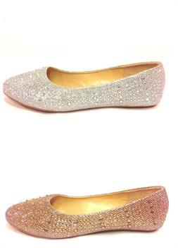 New Women's Fashion Glitter Diamond Ballet Flats Soft Soles