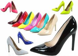 NEW Womens 19 color Pointy Toe Stiletto High Heel Dress Pump