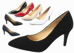 NEW Women's Slip On Pointy Toe Stiletto High Heel Dress Pump